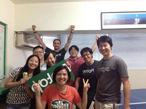 (圖說:Fliptop 的台北團隊,整個產品都是台北團隊出產的。原作者提供)
