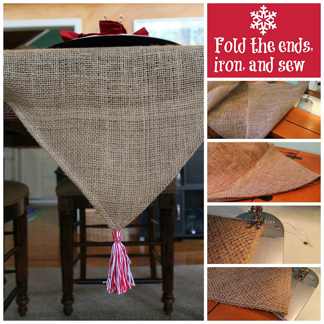 Finish the table runner