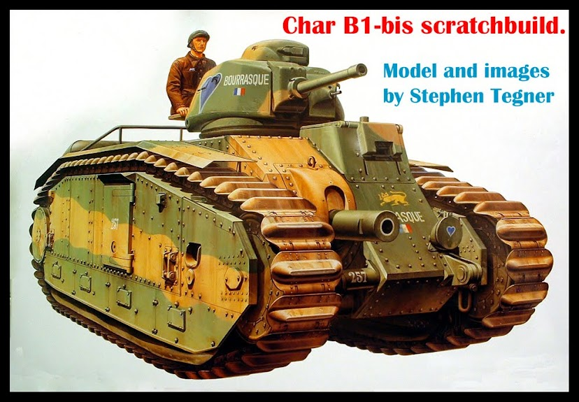 Char B1-bis scratchbuild
