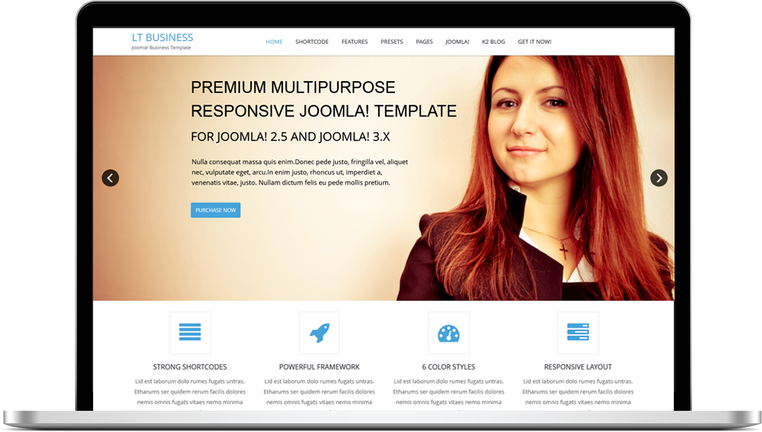 LT Business Onepage - Free Joomla! Template