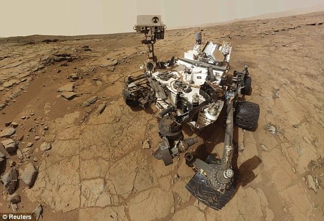 KENDERAAN Curiosity di Marikh pada 3 Februari lalu.