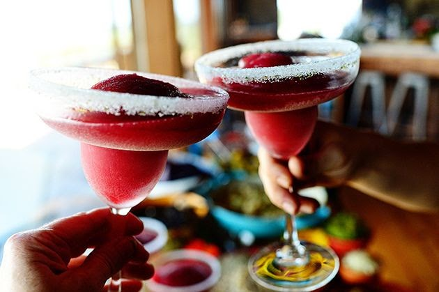 fresh black berry margarita - all things belle