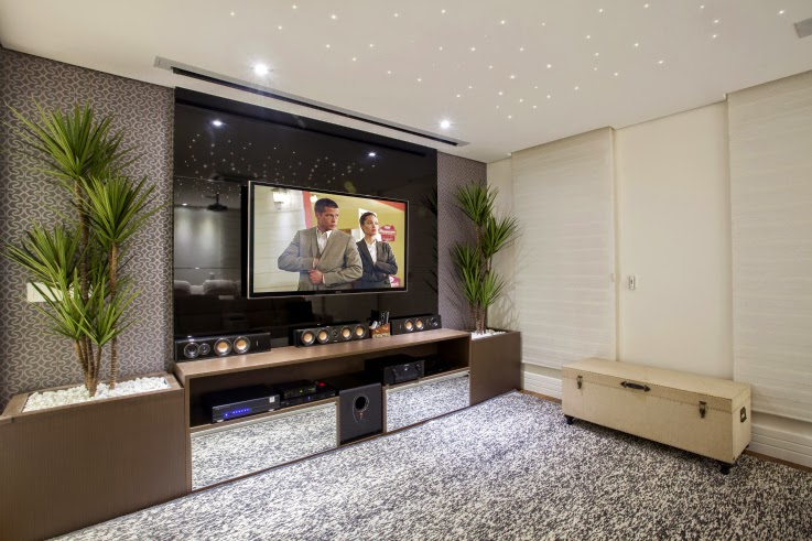 Sala Estar Home Theater ~ Móveis para Salas de Estar # decoracao sala home theater fotos