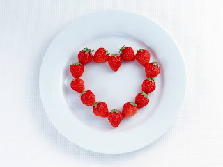 Heart Shaped Made Of Strawberries Love Wallpaper