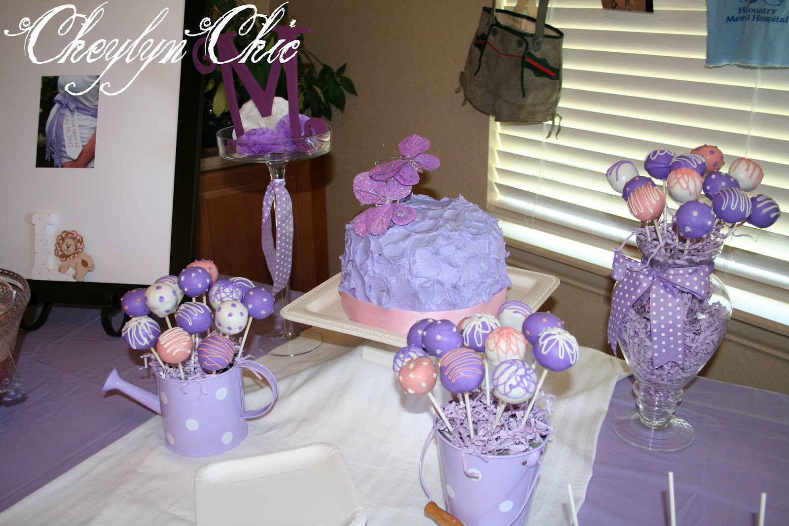 Purple butterfly baby shower decorations best baby for Baby shawer decoration