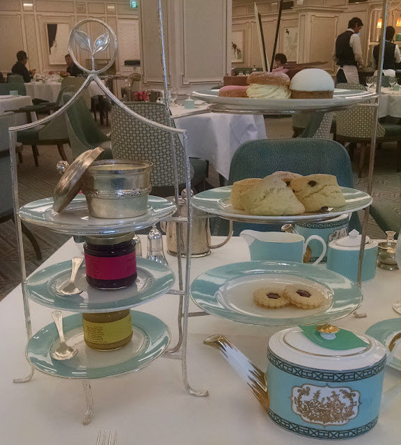 A decadent afternoon tea with scones and sweets at Fortnum & Mason in London from 72 Hours to Go