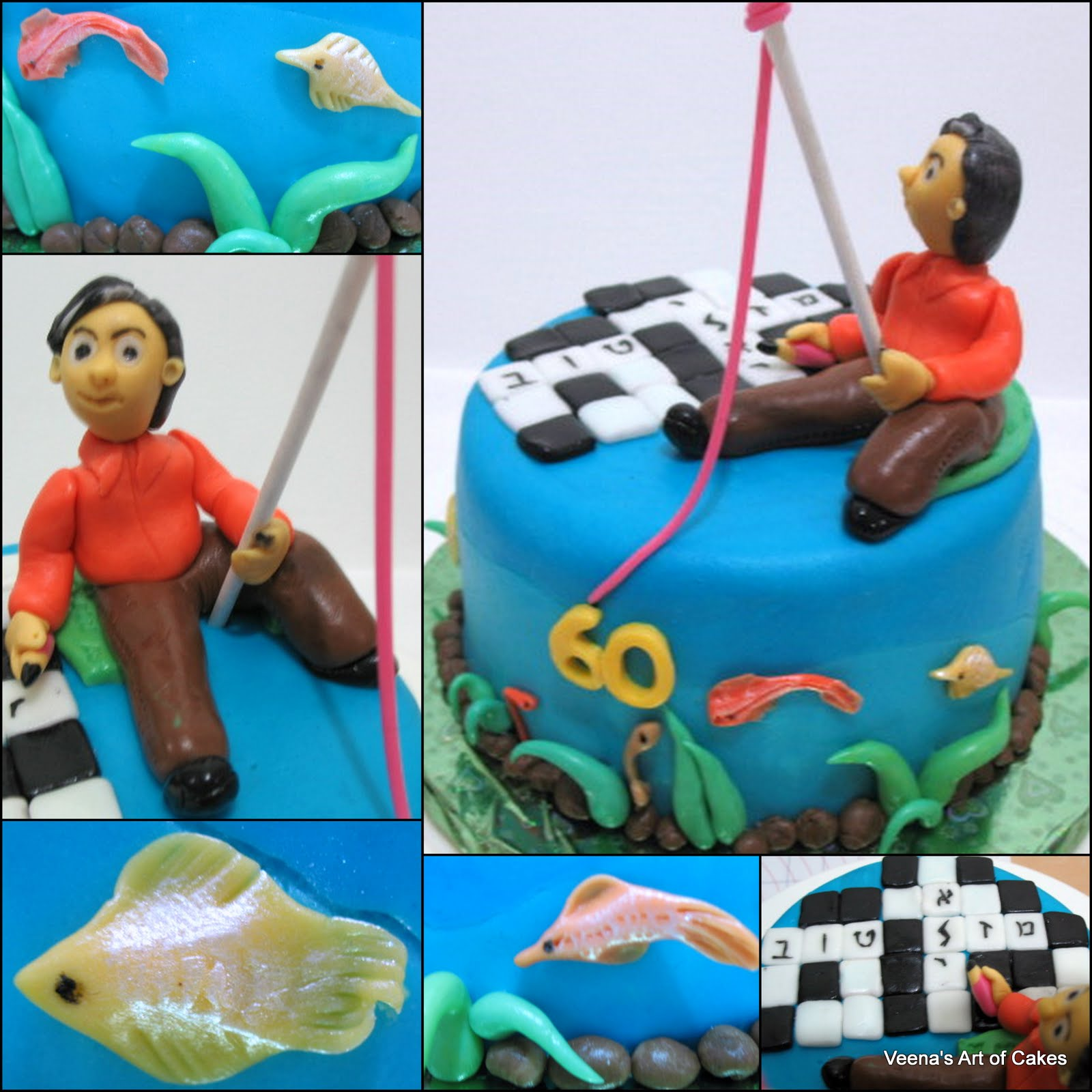 fishing themed wedding cake toppers