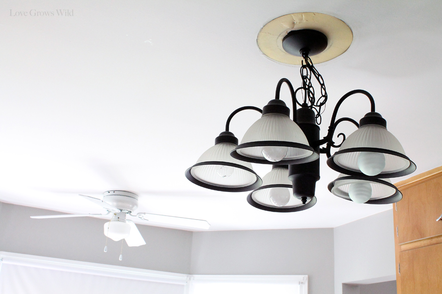 Vintage Kitchen Makeover Plans Love Grows Wild - Old fashioned kitchen ceiling lights