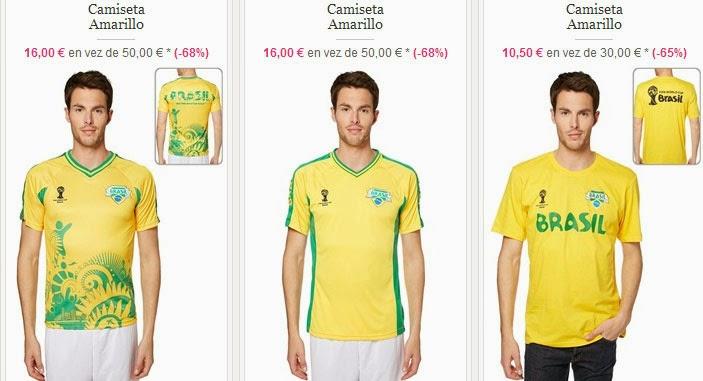 Camisetas Brasil 2014