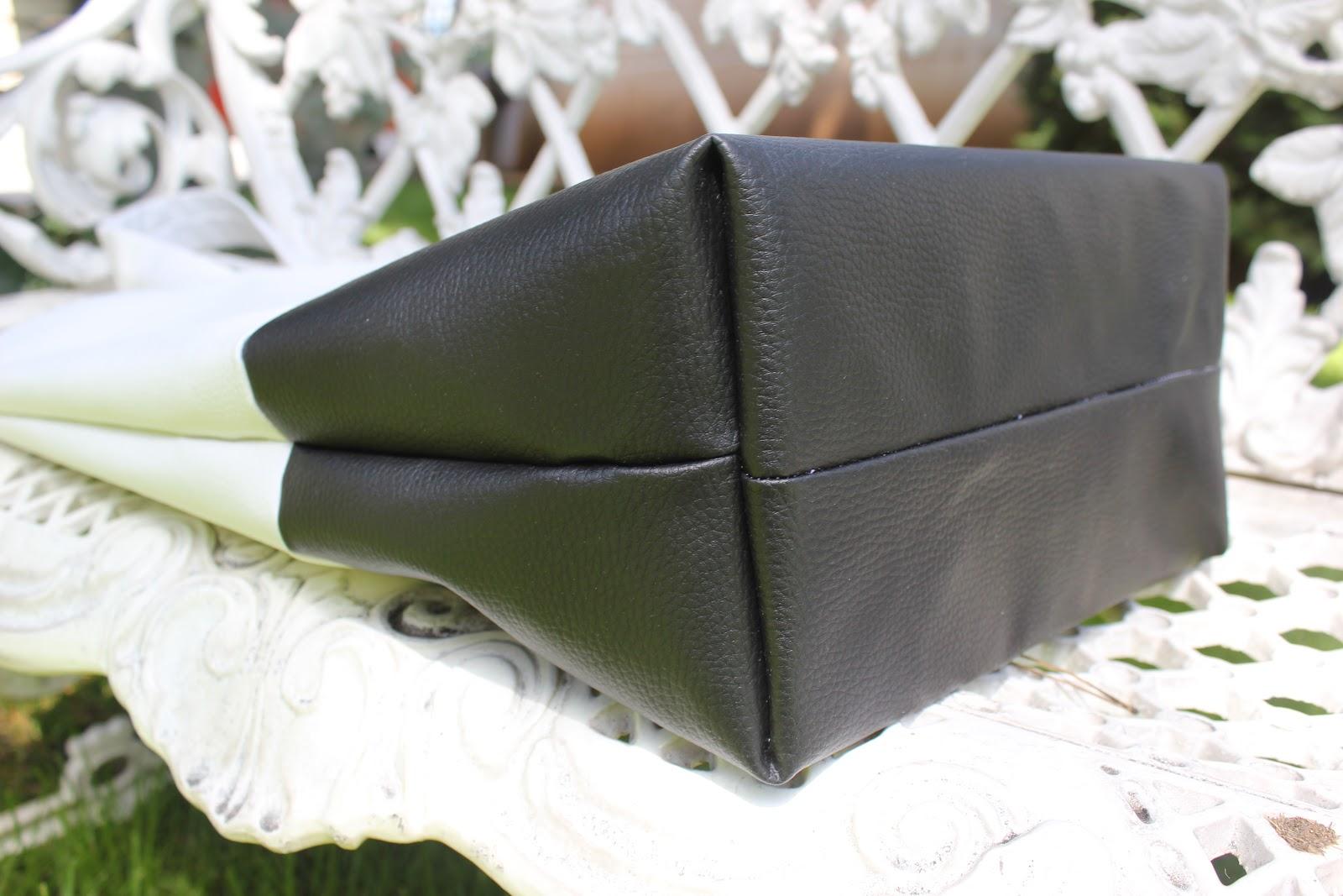 Diy c mo hacer este maxi bolso de cuero blanco y negro - Como hacer bolsos con salvamanteles ...