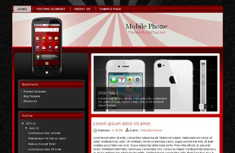 Mobile Phone Blogger Template