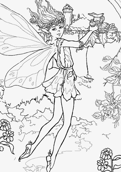 Fairies Coloring Pages Printable