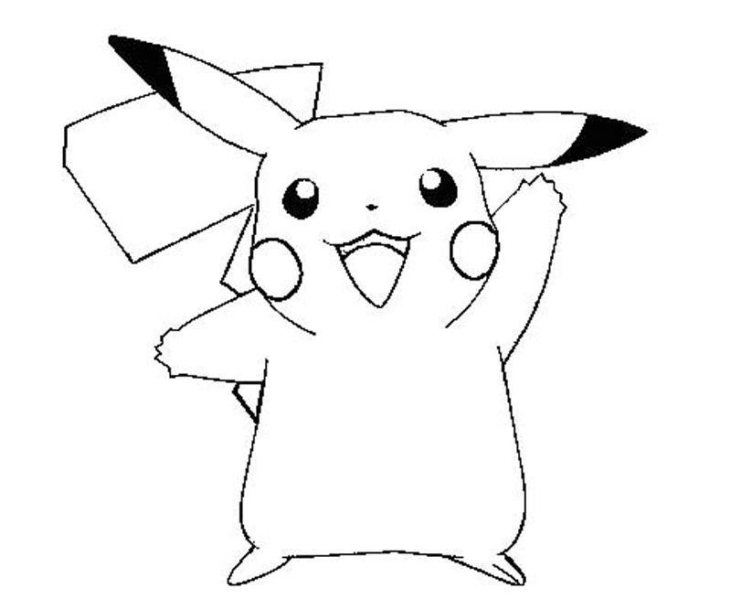 pikachu in action coloring pages - photo#33