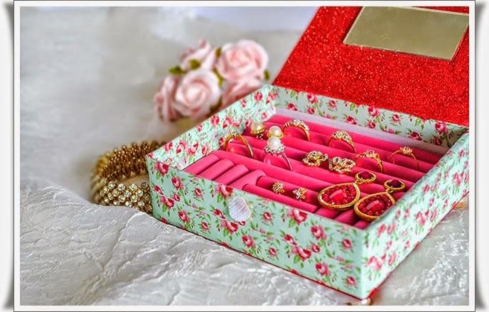 Как своими руками сделать шкатулку для украшений из картона
