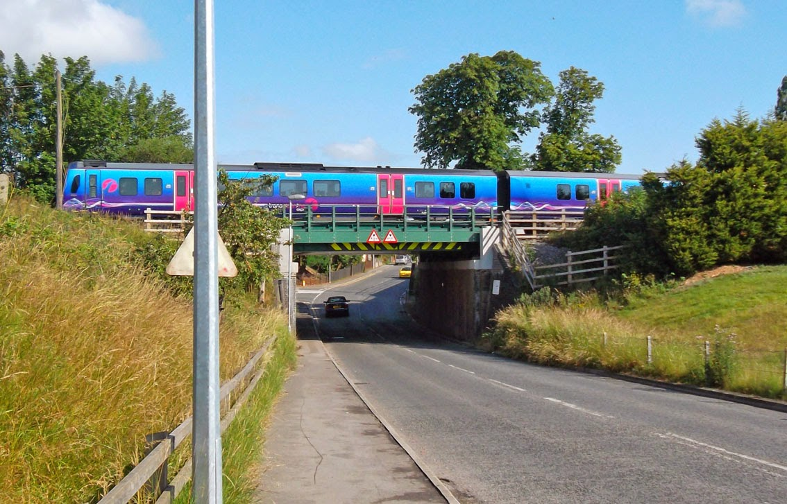 A TransPennine train at Barnetby - the nearest point for Brigg people to axes the service