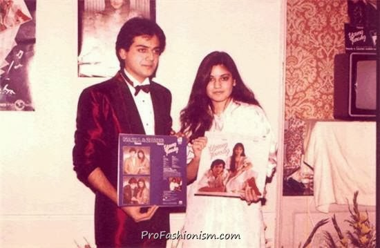 Nazia Hassan and Zohaib Hassan on an Album Launch