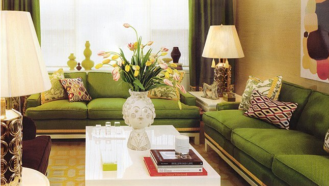 Vrooms modern green living room for Green living room ideas