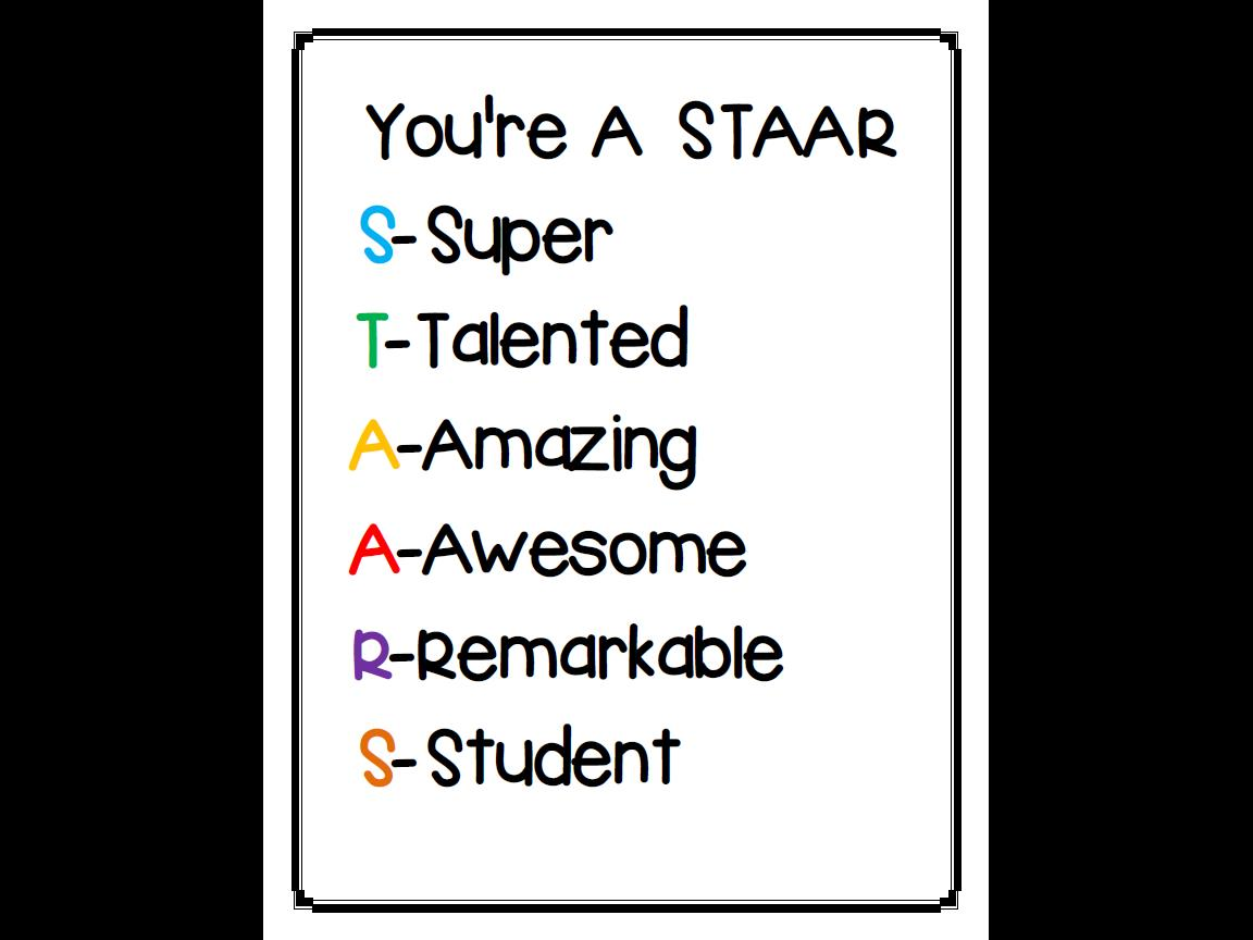 A Spoonful of Creativity: STAAR Motivation