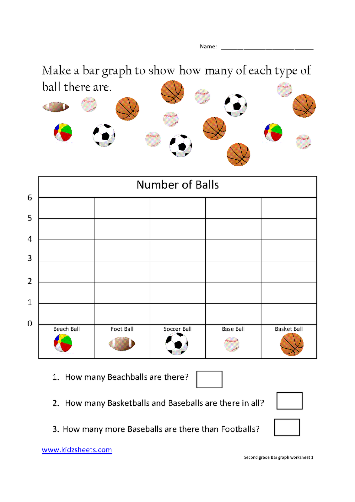 Printables 2nd Grade Worksheets Printable kidz worksheets second grade bar graph worksheet1 graph