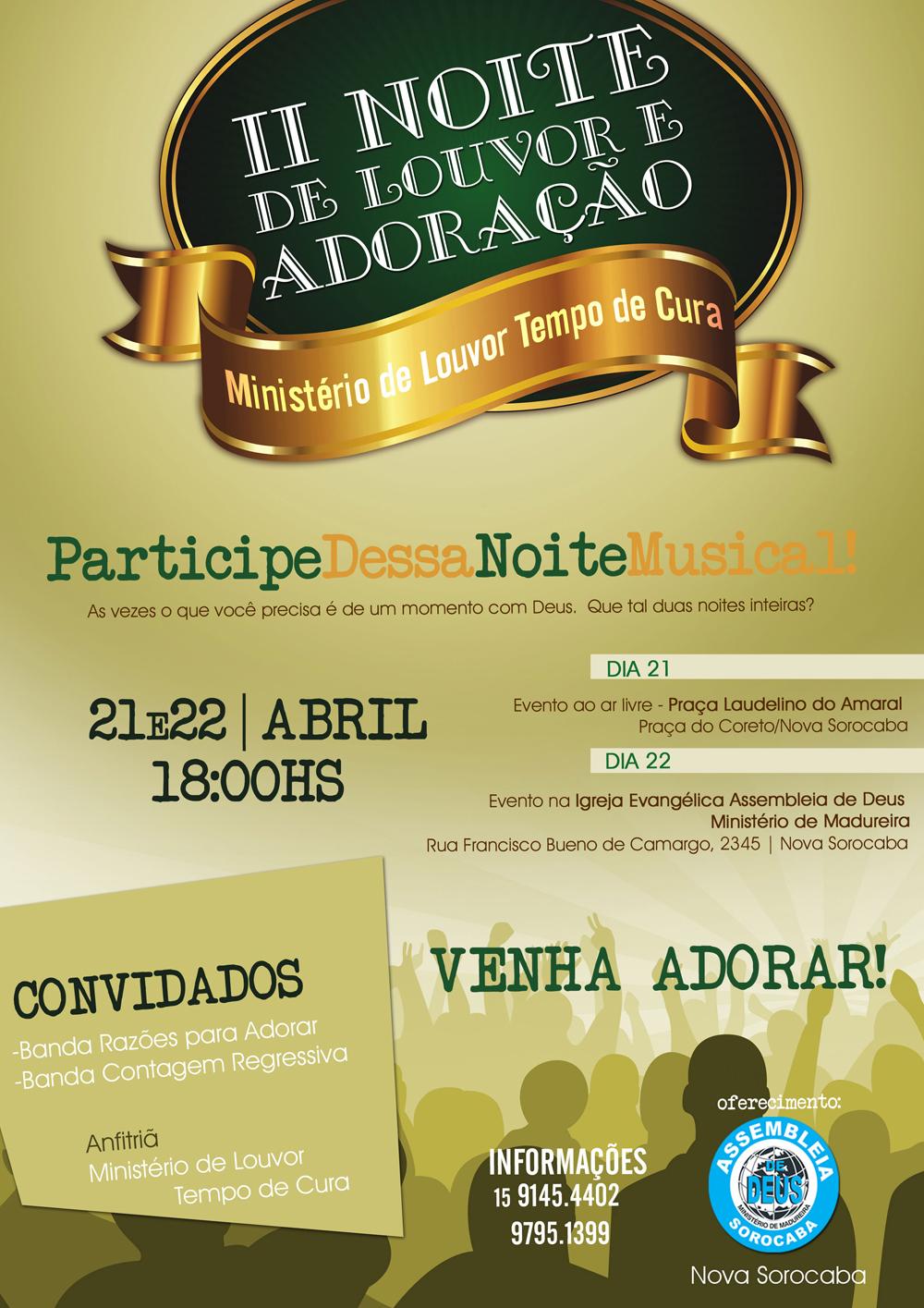 Jovens Ibieden Sorocabasp Convite Evento Louvor E Adoração