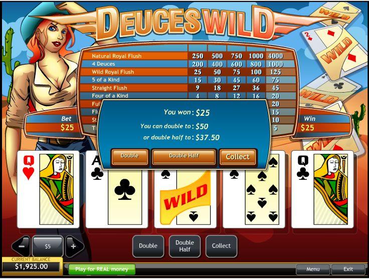Видео-покер Дикие двойки