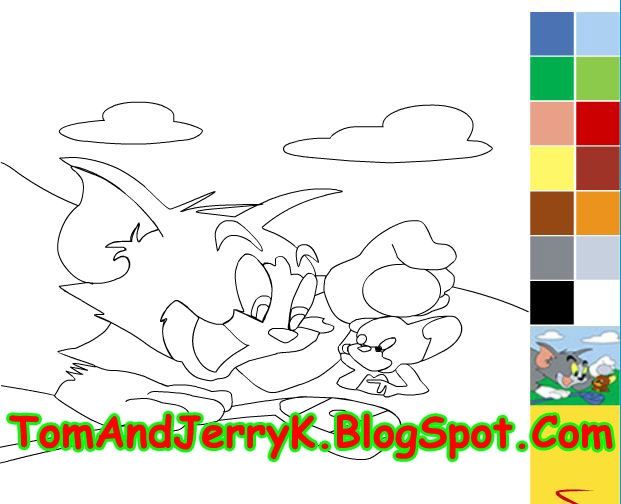 Tom And Jerry: Tom And Jerry Painting Coloring Game