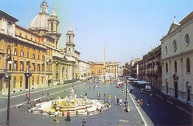 Praça Navona em Roma