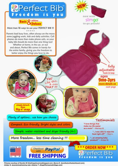 The 'Perfect Bib by Toppy Toddler' is both waterproof and easy to clean!