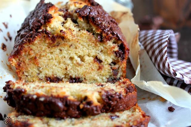 Pan de platano con chocolate