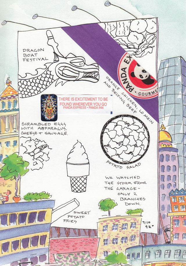 Art Journal Drawings Art Journal Food Drawing Page