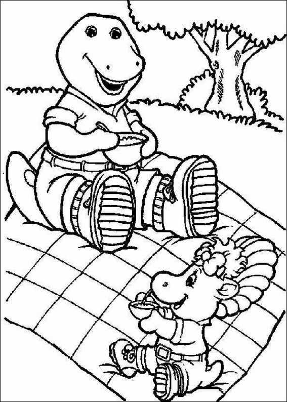 barney coloring pages - Barney Dinosaur Coloring Pages