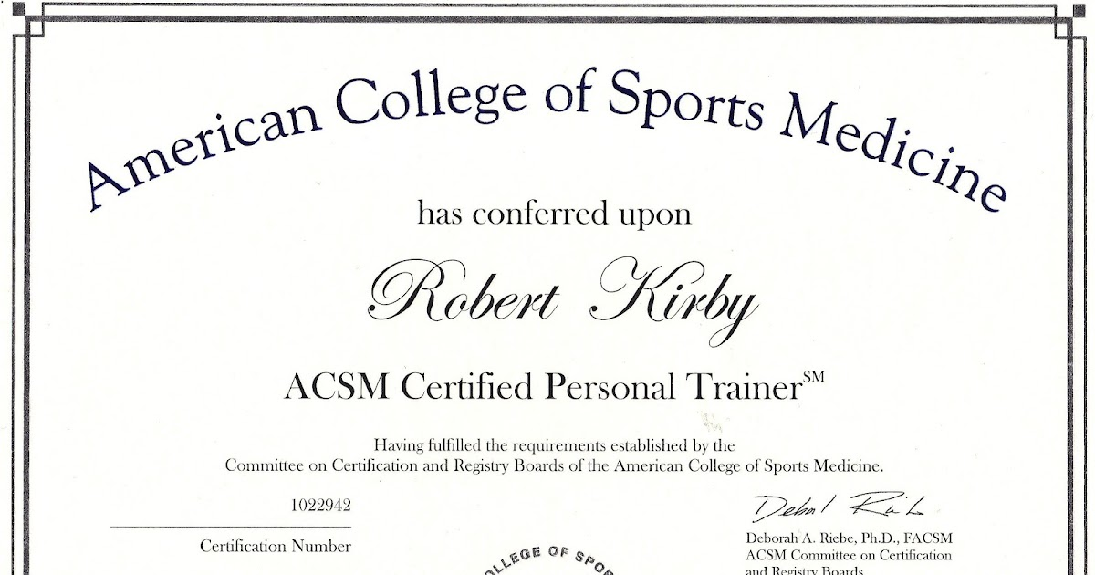 Robert\'s Fitness Insights: Certification Validation