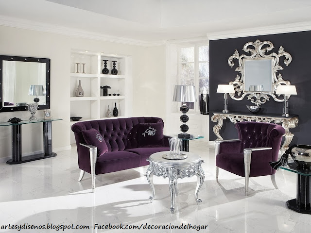 DECORAR CON ACCESORIOS DE COLOR PLATEADO by artesydisenos.blogspot.com