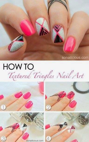 Nails Art Step By Step Tutorial #10..