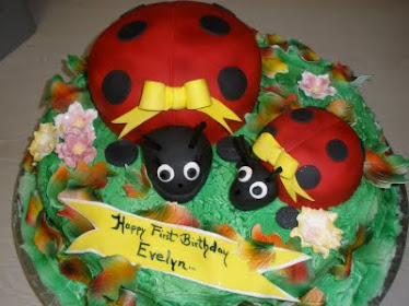 Happy lady bugs