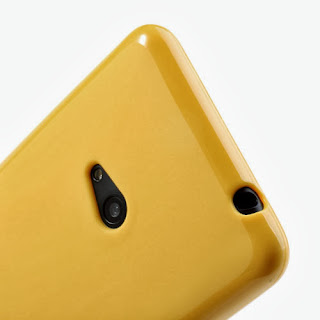 Frosted TPU Jelly Case For Nokia Lumia 625 - Yellow