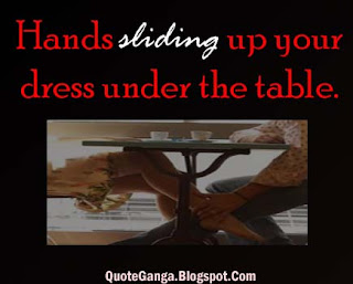 Hands sliding