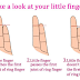 Your little finger say amazing story about your life and love