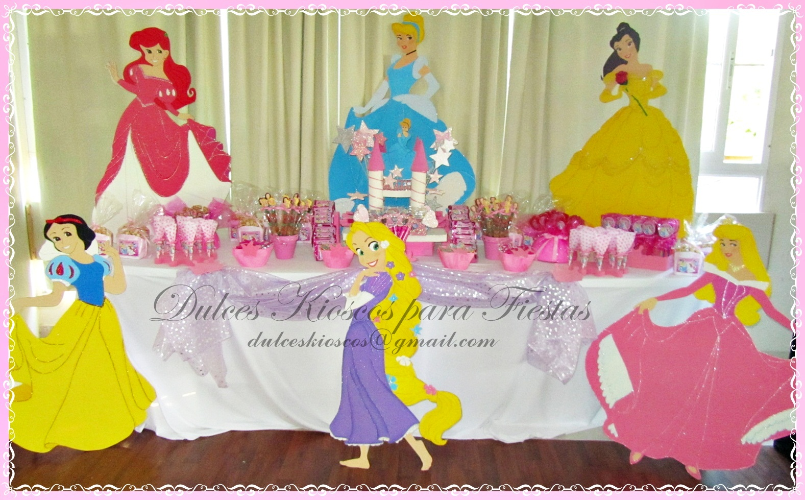 Dulces kioscos para fiestas cumplea os tematico - Fiestas de cumpleanos de princesas ...