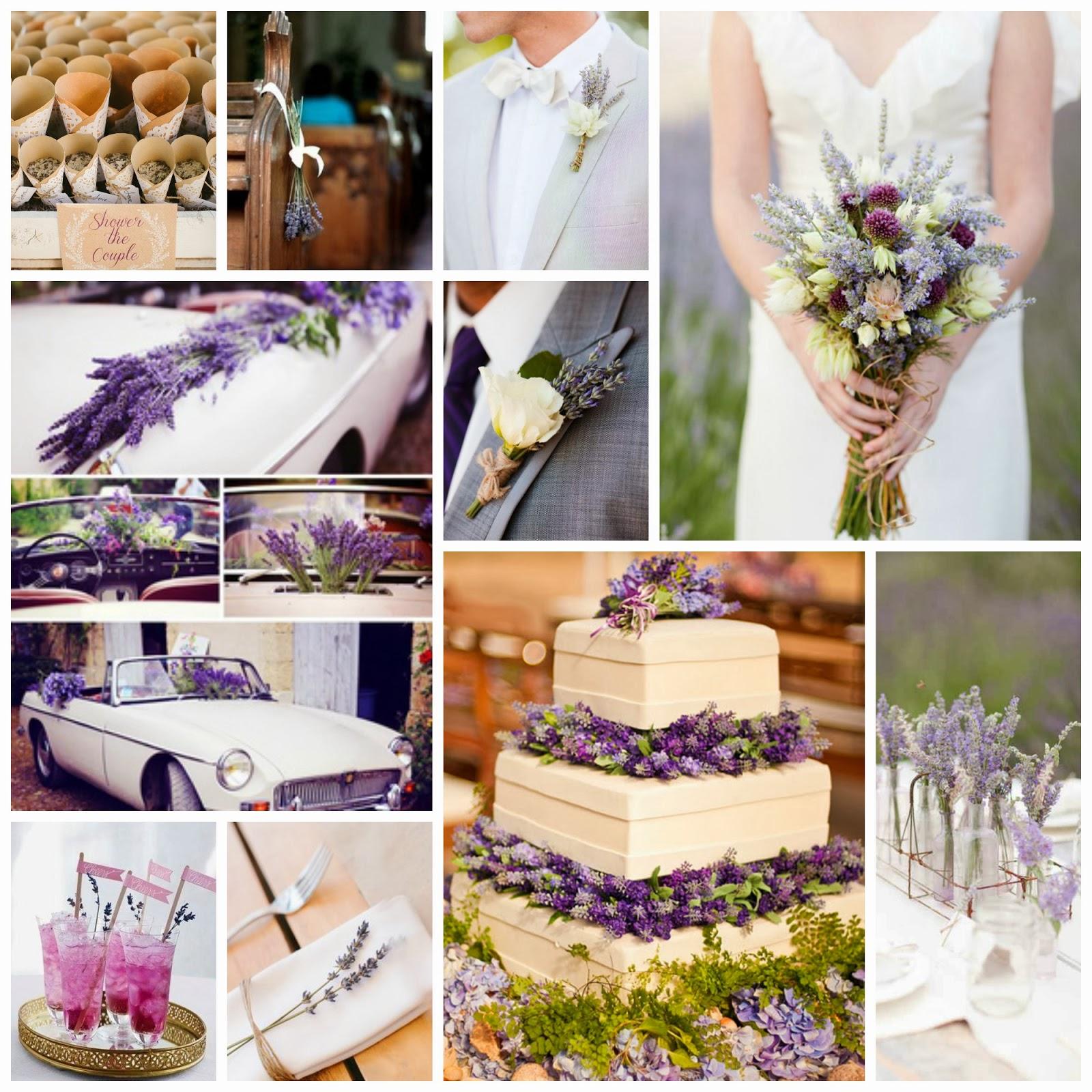 Honeymoonshopping lavendel trouwthema for Bruiloft versiering zelf maken