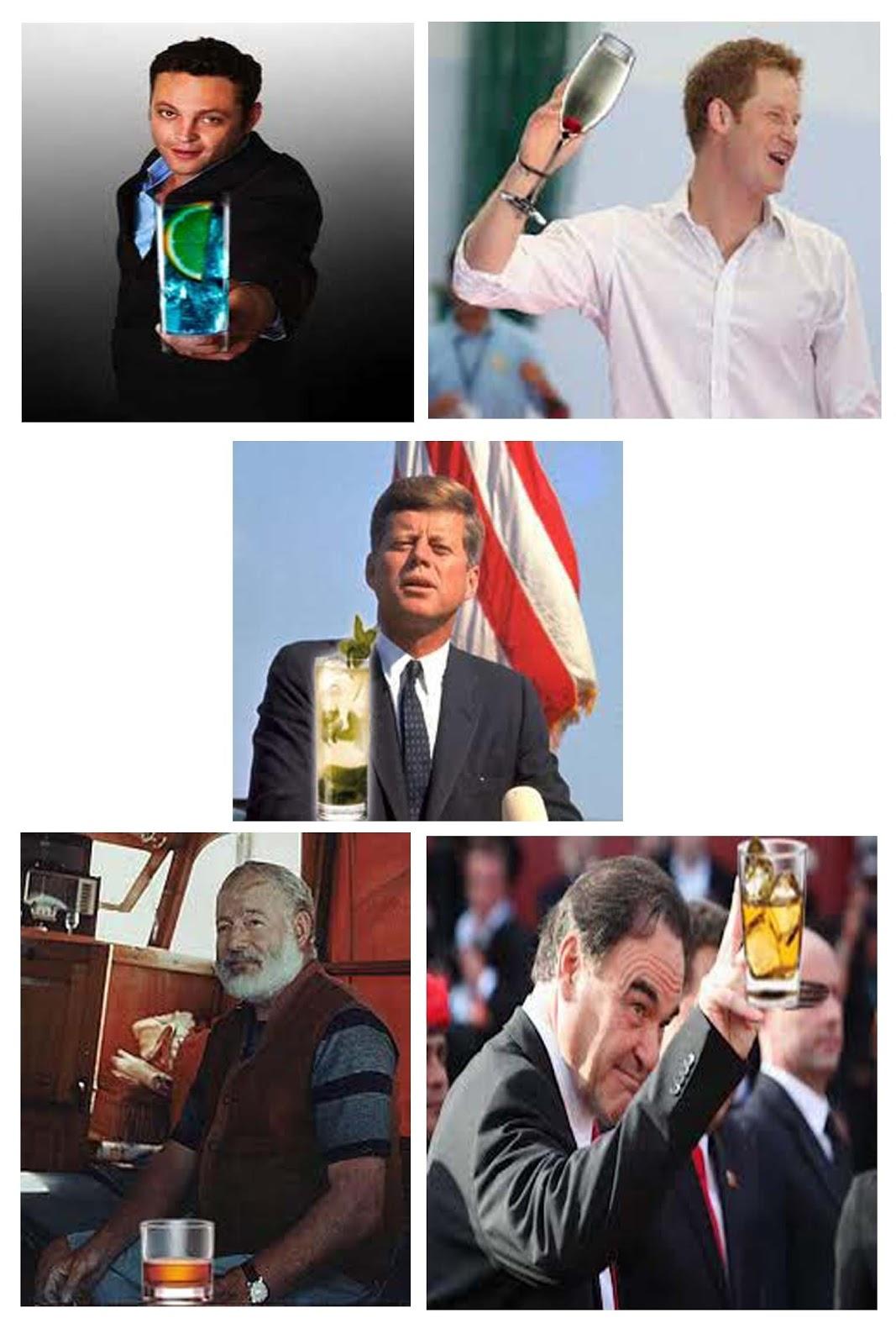 bebidas y famosos