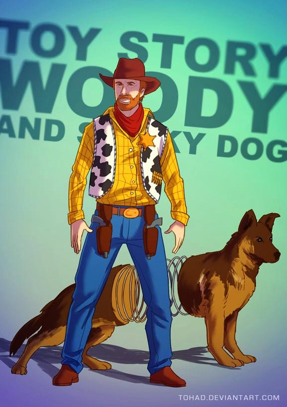 badass fanart de Sylvain «Tohad» Sarrailh de woody de toy story