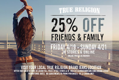 True Religion Friends & Family
