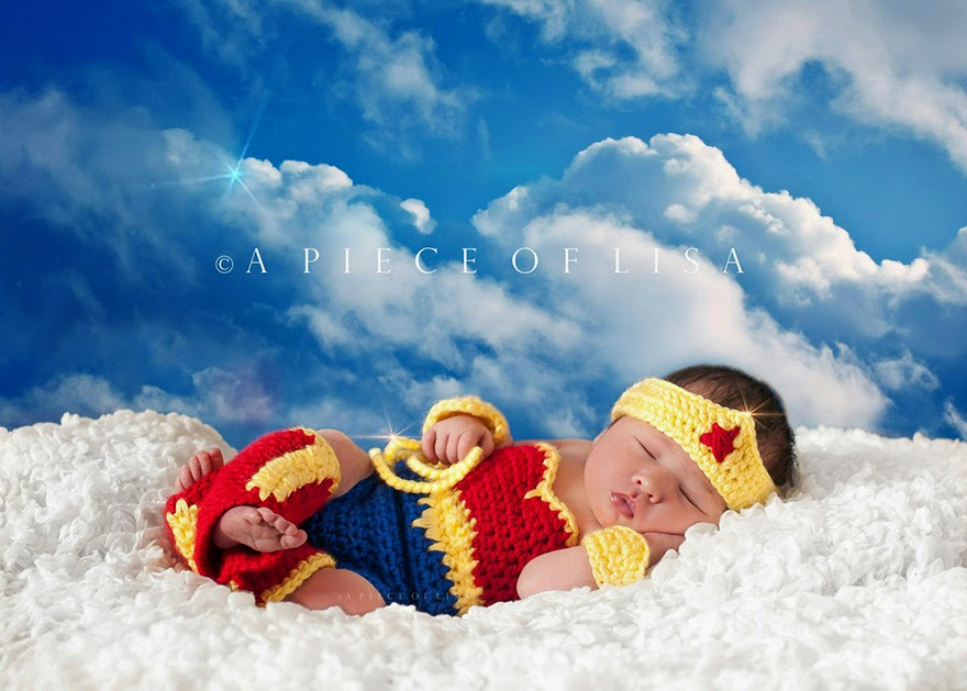 #20 Baby Wonderwoman - 22 Geeky Newborns Who Are Following In Their Parents' Nerdy Footsteps