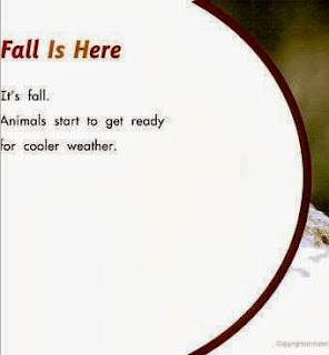 sample page #1 from ANIMALS IN FALL  by Martha E. H. Rustad