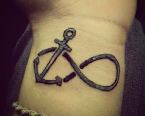 Best Anchor infinity tattoos