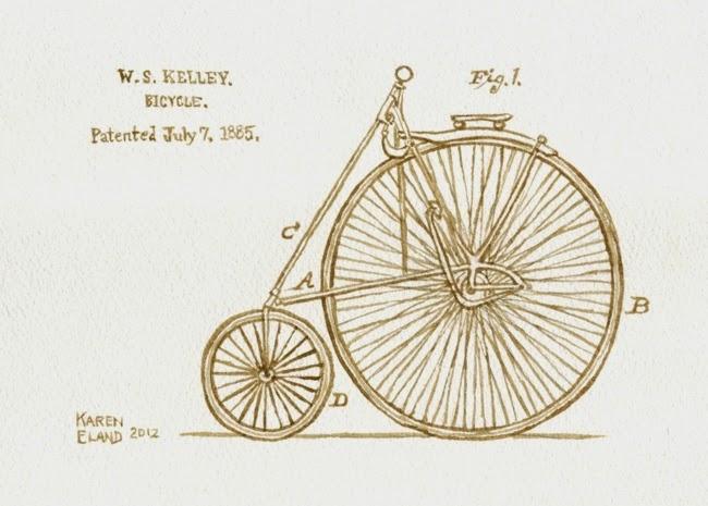 13-1885-Bike-Patent-Karen Eland-Vintage-Looking-Beer-and-Water-Paintings-www-designstack-co