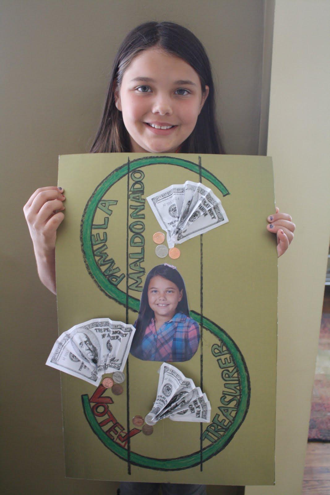 Luca and Lexa: Vote Pamela for Treasurer!!