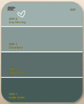 Smokey grey kitchen cabinets - Hence The Paint Shaded Greens