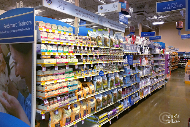 the aisle where you can find Purina Muse® Natural Cat Food in PetSmart